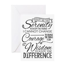 Serenity Prayer (chalk Text) Greeting Cards