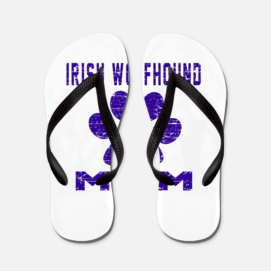 Irish Wolfhound mom designs Flip Flops