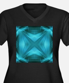 abstract teal geometric pattern Plus Size T-Shirt