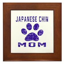 Japanese Chin mom designs Framed Tile