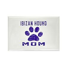 Ibizan Hound mom designs Rectangle Magnet