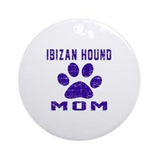 Ibizan Hound mom designs Round Ornament