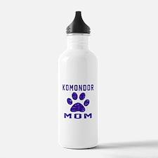 Komondor mom designs Water Bottle