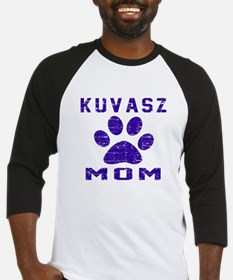 Kuvasz mom designs Baseball Jersey