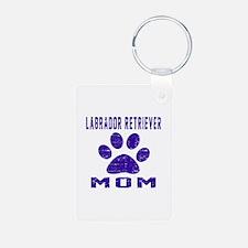 Labrador Retriever mom des Aluminum Photo Keychain