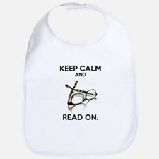 Keep Calm and Read On Glasses Bib