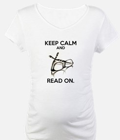 Keep Calm and Read On Glasses Shirt