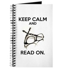Keep Calm and Read On Glasses Journal