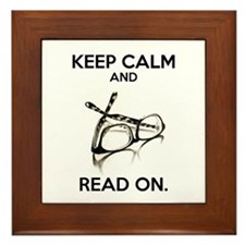 Keep Calm and Read On Glasses Framed Tile