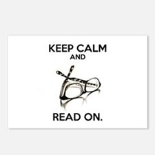 Keep Calm and Read On Gla Postcards (Package of 8)