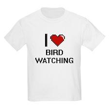 I Love Bird Watching Digital Design T-Shirt
