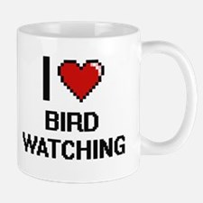 I Love Bird Watching Digital Design Mugs