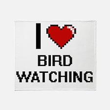 I Love Bird Watching Digital Design Throw Blanket