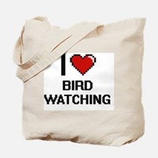 I Love Bird Watching Digital Design Tote Bag