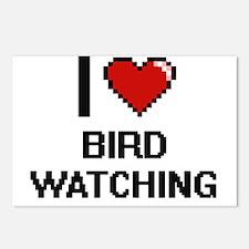 I Love Bird Watching Digi Postcards (Package of 8)