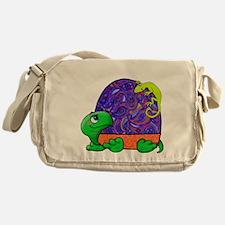 Paisley Turtle and Lizard Messenger Bag