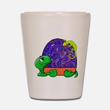 Paisley Turtle and Lizard Shot Glass
