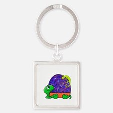 Paisley Turtle and Lizard Keychains