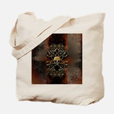 Skull with snakes Tote Bag