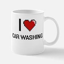 I Love Car Washing Digital Design Mugs