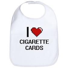 I Love Cigarette Cards Digital Design Bib