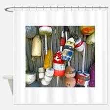 lobster floats 1.jpg Shower Curtain