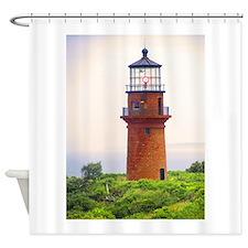 gay head lighthouse.jpg Shower Curtain