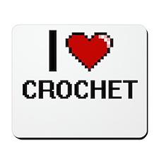 I Love Crochet Digital Design Mousepad
