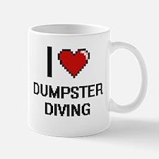 I Love Dumpster Diving Digital Design Mugs
