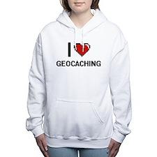 I Love Geocaching Digita Women's Hooded Sweatshirt