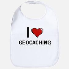 I Love Geocaching Digital Design Bib