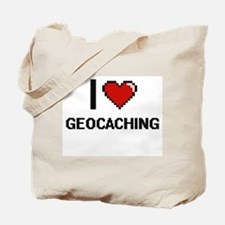 I Love Geocaching Digital Design Tote Bag