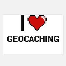 I Love Geocaching Digital Postcards (Package of 8)