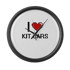 I Love Kit Cars Digital Design Large Wall Clock