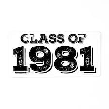 Class of 1981 Aluminum License Plate