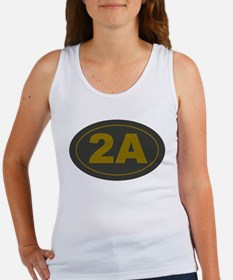 2A Oval Dark Olive/HE Yellow Tank Top