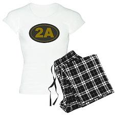 2A Oval Dark Olive/HE Yello pajamas