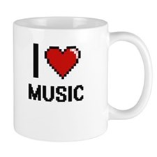 I Love Music Digital Design Mugs
