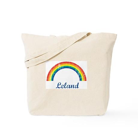 Leland vintage rainbow Tote Bag