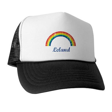 Leland vintage rainbow Trucker Hat