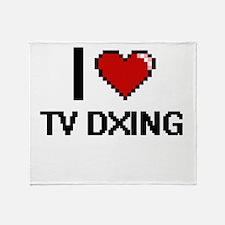 I Love Tv Dxing Digital Design Throw Blanket