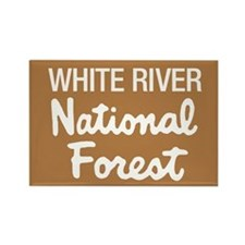 White River (Sign) National F Rectangle Magnet
