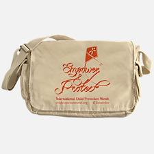 Intl Child Protection Month Kite Messenger Bag