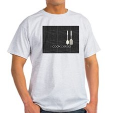 I Cook Paleo Hobby Kitchen Chef Logo T-Shirt
