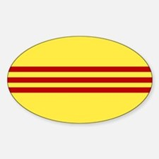 Square South Vietnamese Flag Decal