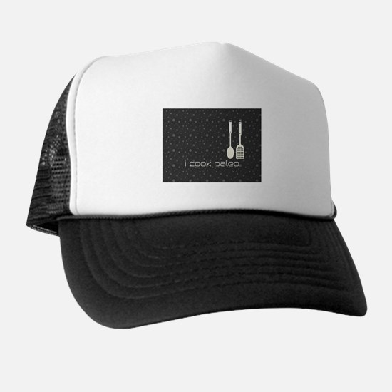 I Cook Paleo Hobby Kitchen Chef Logo Trucker Hat