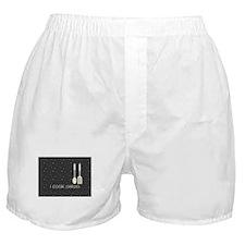 I Cook Paleo Hobby Kitchen Chef Logo Boxer Shorts