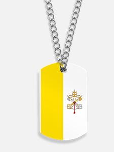 Vatican City Flag Dog Tags