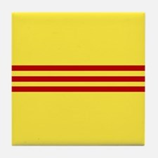 Square South Vietnamese Flag Tile Coaster
