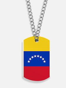 Venezuela Flag Dog Tags